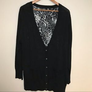 Calvin Klein Cheetah Back Cardigan